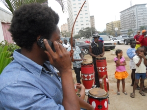 Drumming and Phoning